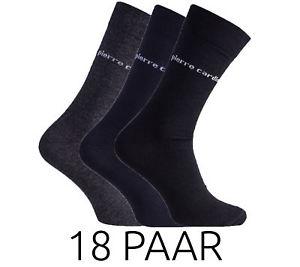 Wieder da! Der Klassiker! Pierre Cardin Socken 18 Paar 78% Baumwolle@ebay