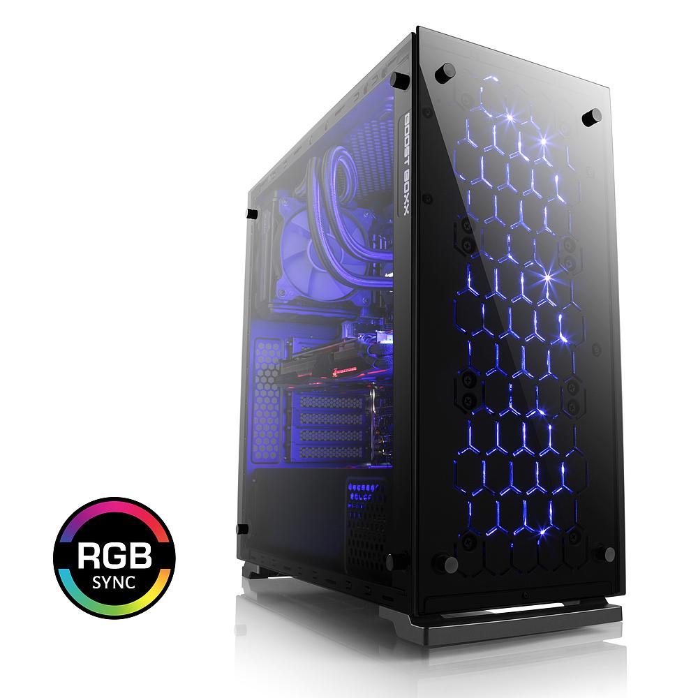 Komplett PC: Intel i7 8700K, Z370, Nvidia Geforce GTX 1080 Strix, 16 GB 2666Mhz RAM, Pure Power 600W, 240GB M2 PCIe + 2TB HDD mit 15€-Gutschein