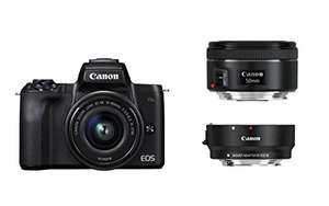 Canon EOS M50 + EF-M 15-45 + EF Adapter + EF 50 1.8 Kit bei Amazon Deutschland