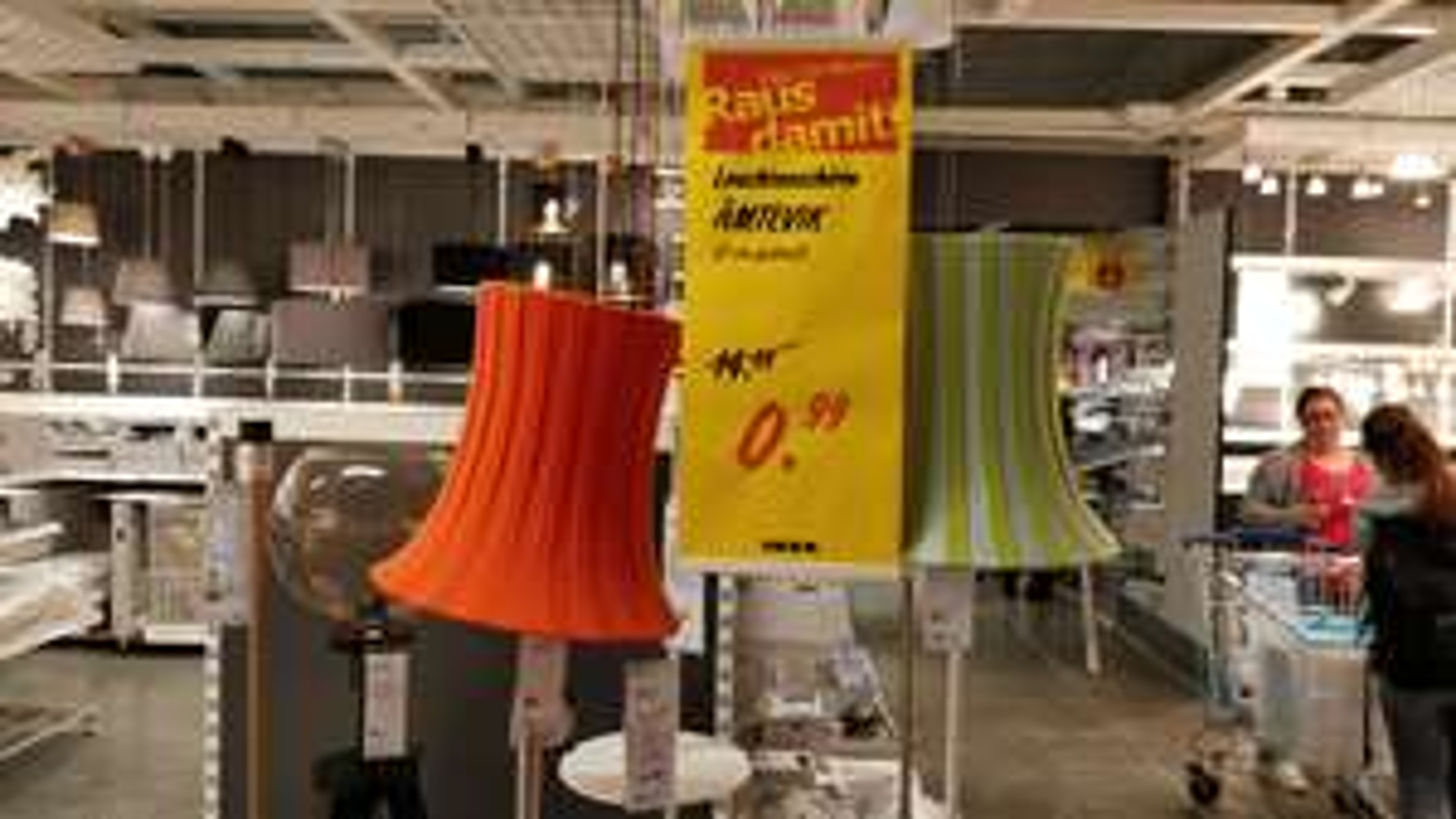 [IKEA Duisburg] Leuchtenschirm ÄMTEVIK