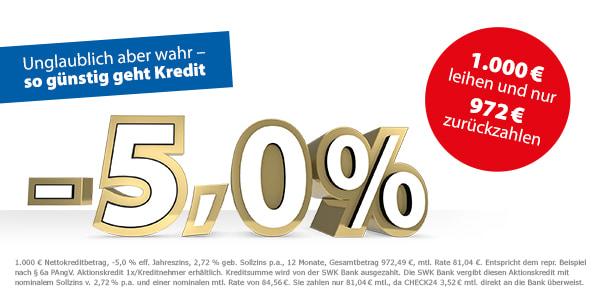 CHECK24 - 1000 € leihen, 972 € zurückzahlen in 12 Monatsraten mit 28 € Gewinn !