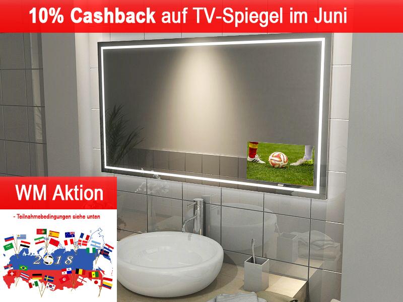 10% Cashback auf alle TV-Spiegel (Spiegel mit integriertem Fernseher)