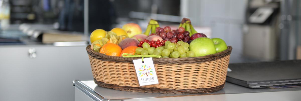 LOKAL -  B & M: Einmalig einen frugee-Früchtekorb gratis ins Büro liefern lassen !