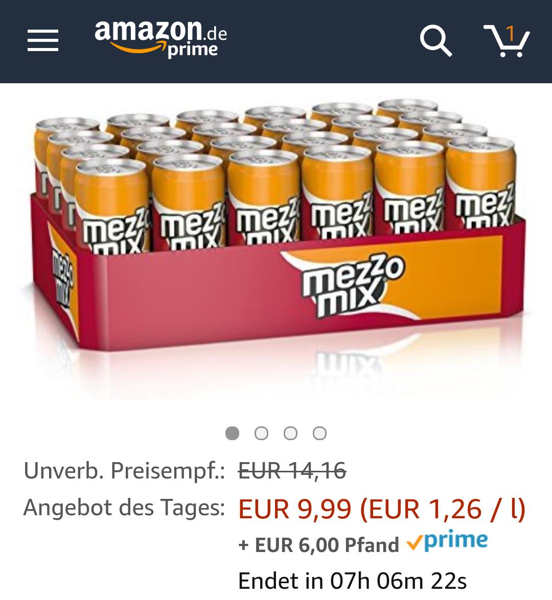 [Amazon Prime only] Coca Cola & Mezzo Mix 24x 0,33l für 9,49€ im Sparabo