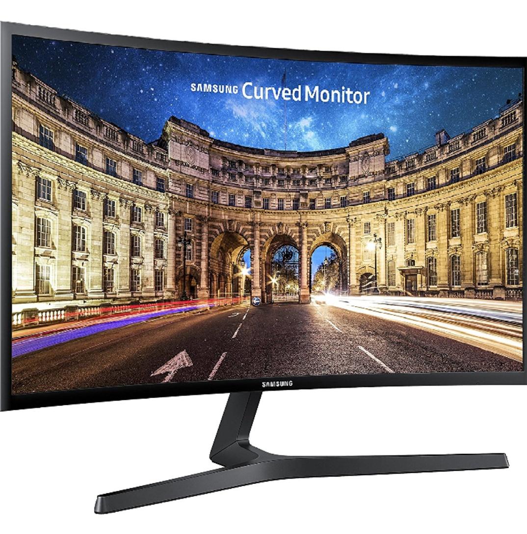[Amazon Prime Blitzangebot] Samsung C24F396FHU Curved Monitor, 60,9 cm (24 Zoll), schwarz, VA Panel, Freesync