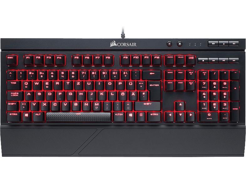 [Mediamarkt] Corsair USB-Gaming-Tastatur K68 MX Red Beleuchtet, Handballenauflage Schwarz für 75,-€