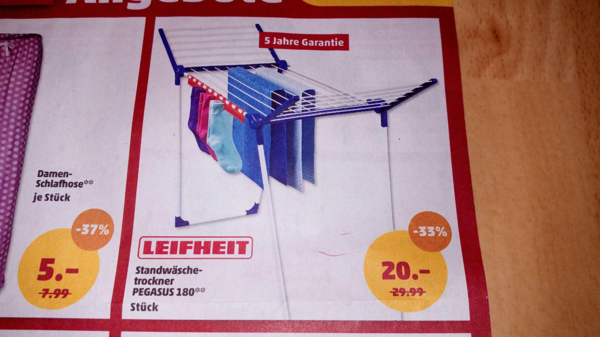 [Penny] Leifheit Pegasus 180 Wäscheständer/Standtrockner lokal?