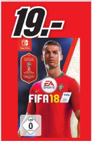 [Regional Mediamarkt Mainz/Bischofsheim] FIFA 18 inklusive WM 2018 Edition Nintendo Switch für 19,-€
