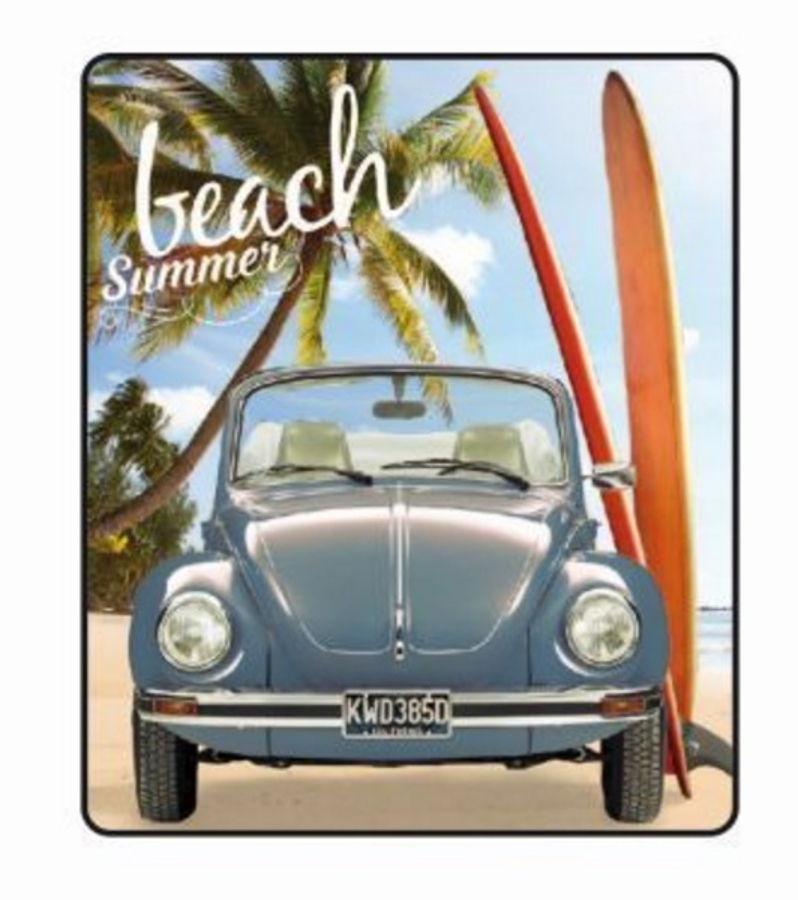 VW Reise-Fleecedecke 130cm x 170cm, verschiedene Klassik-Designs, für 4,99 Euro [Jawoll]