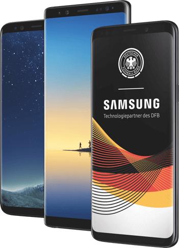 Samsung-Smartphones für 1€ inkl. 1Monat unlimitiertes Datenvolumen + Gratis surfen, wenn Deutschland spielt