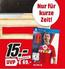 [Regional Mediamarkt Frankfurt/Dietzenbach/Aschaffenburg/Egelsbach/Kassel/Gründau-Lieblos/Sulzbach] FIFA 18 inklusive WM 2018 Edition Playstation 4(PS4) für 15,-€
