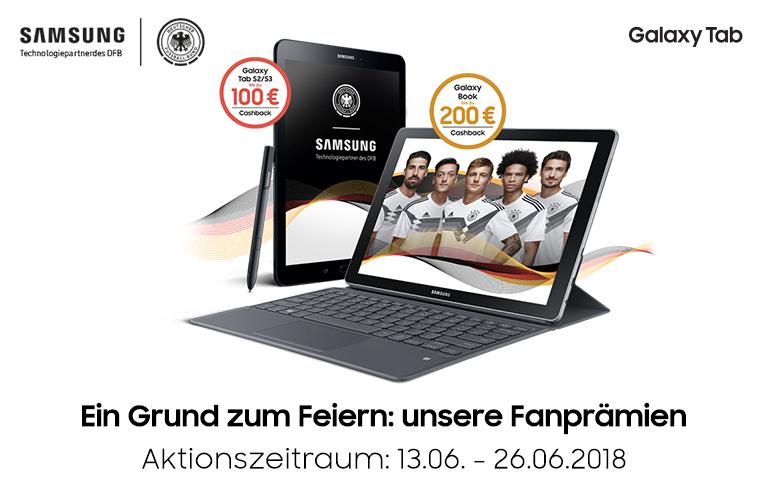 Samsung Fanprämie = 80€-200€ Cashback auf Galaxy Tab & Book