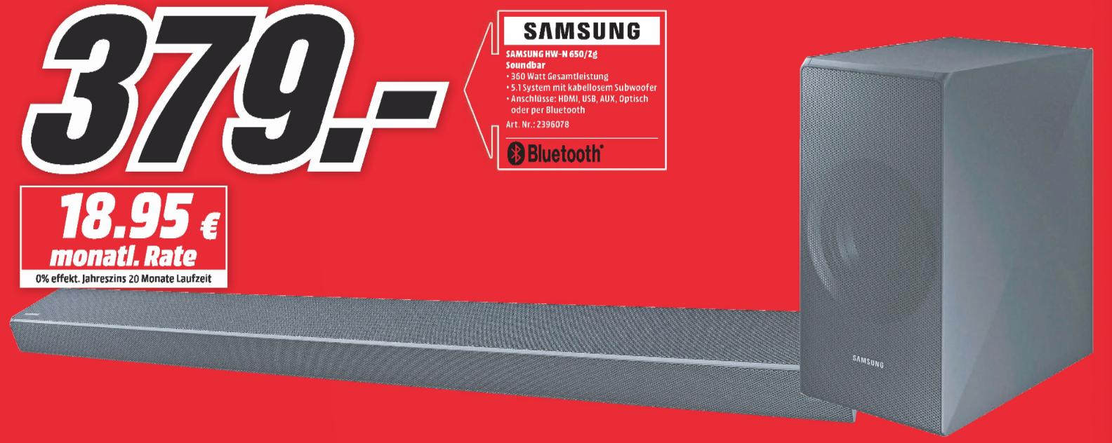 Samsung HW-N650 Soundbar [Lokal MediaMarkt Wuppertal]