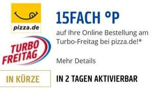 [pizza.de] 15fach Payback Punkte am Turbo-Freitag 15.06.2018