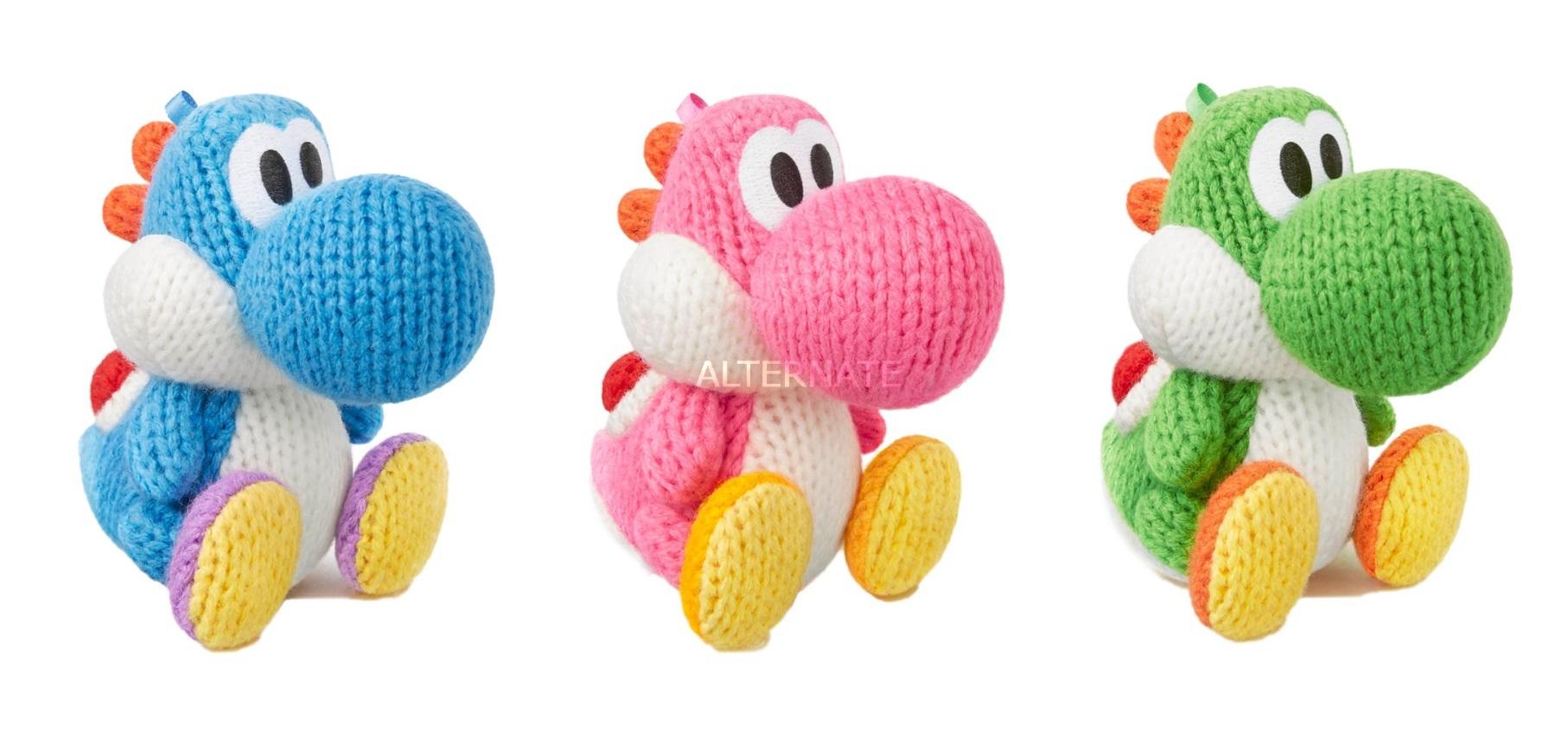 Nintendo amiibo Woll-Yoshi in drei Farben (grün, blau, pink) für je 8,98€ [Alternate]