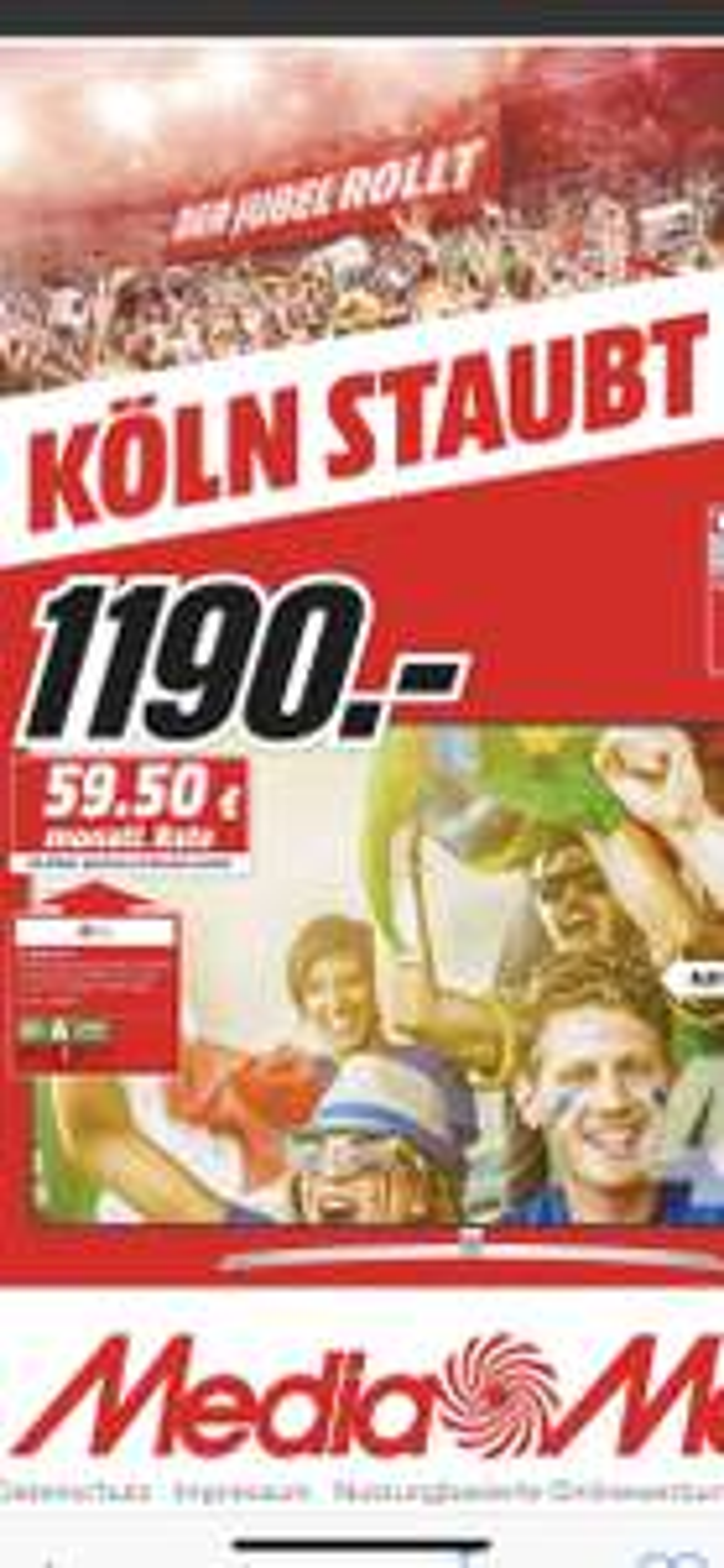 [Lokal] MM Köln LG 55B7, Sony KD-55XE8096, LG 65W7, Philips 65PUS7502