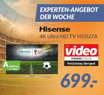 Hisense 4K Ultra HD TV H55U7A