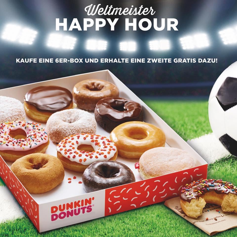 Dunkin' Donuts - Fan-Special - zweite 6er-Box Donuts aufs Haus!