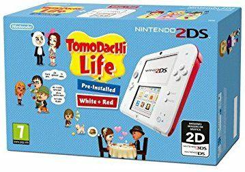 Nintendo 2DSweiß-rot + Tomodachi Life