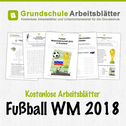 Kostenloses Unterrichtsmaterial (Grundschule) zum Thema Fußball WM 2018