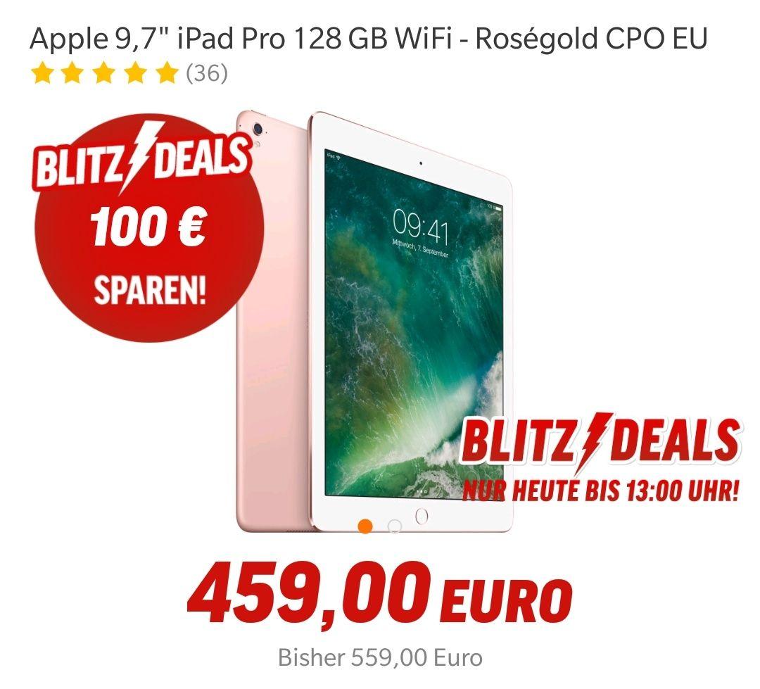 """Apple 9,7"""" Pro 128GB Roségold nur bis heute 13uhr!! (Gebraucht Gerät mit 1 Jahr Garantie)"""
