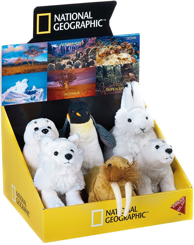 National Geographic LELLY Display Polar Stofftier 6 Stück (nur noch 3 auf Lager) Amazon Prime