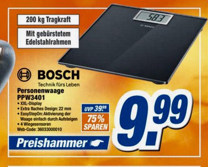 [Lokal expert Bielinsky] Bosch PPW3401, Personenwaage, bis 200kg Tragkraft