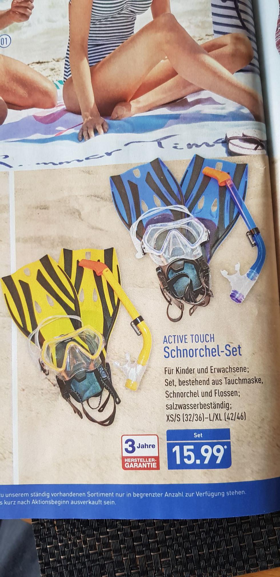 Aldi Nord Schnorchel-Set 3-Teilig