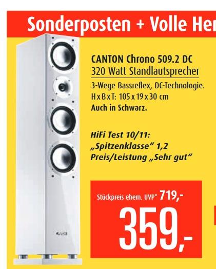 Canton Chrono 509.2 DC Lautsprecher und div. andere Sonderangebote