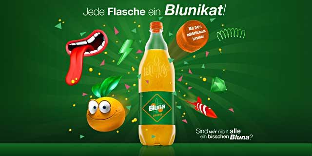 12x0,30€ Cashback für Bluna 1l über Coupies
