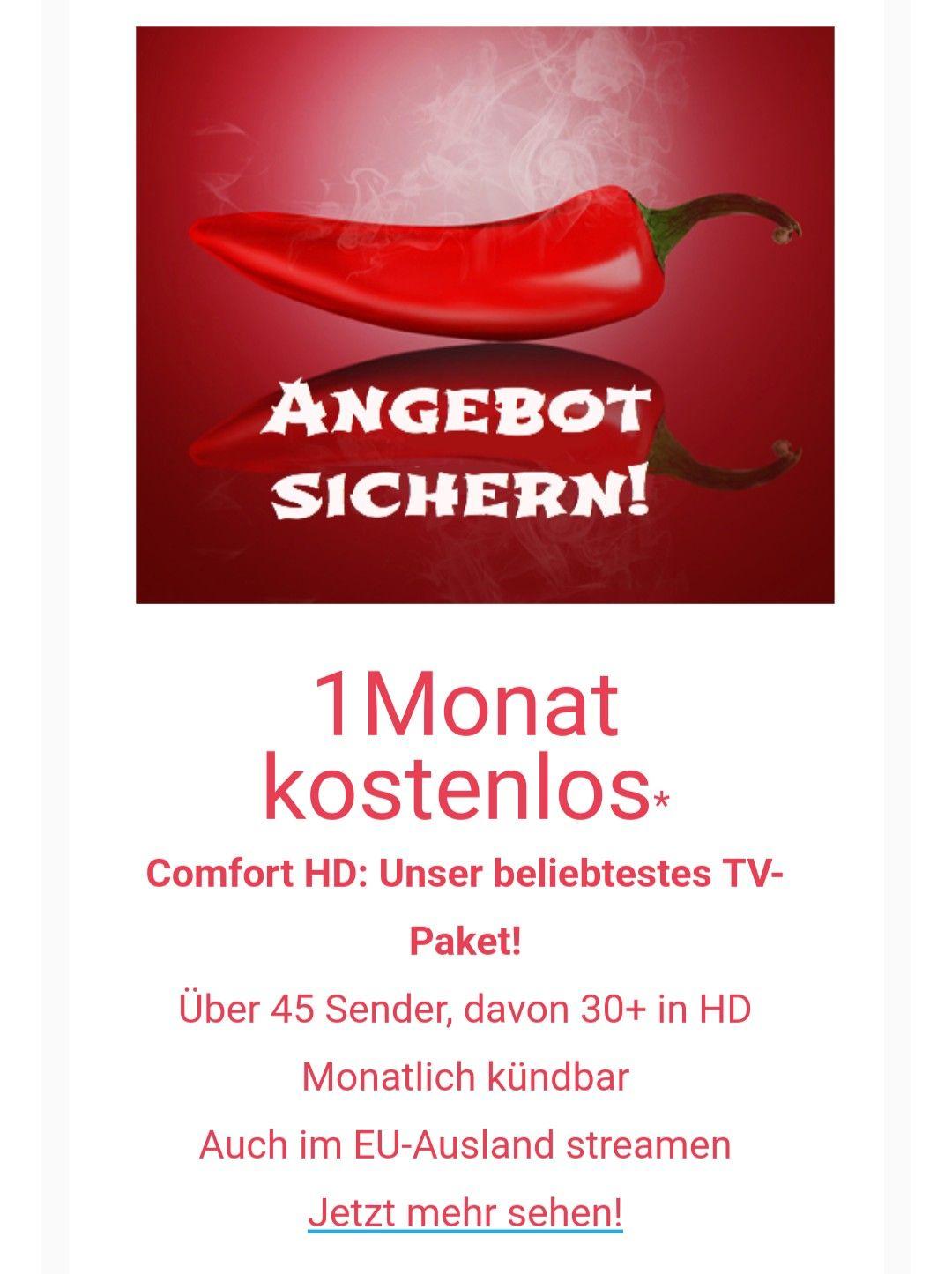 Magine TV Gratismonat Deluxe und Comfort