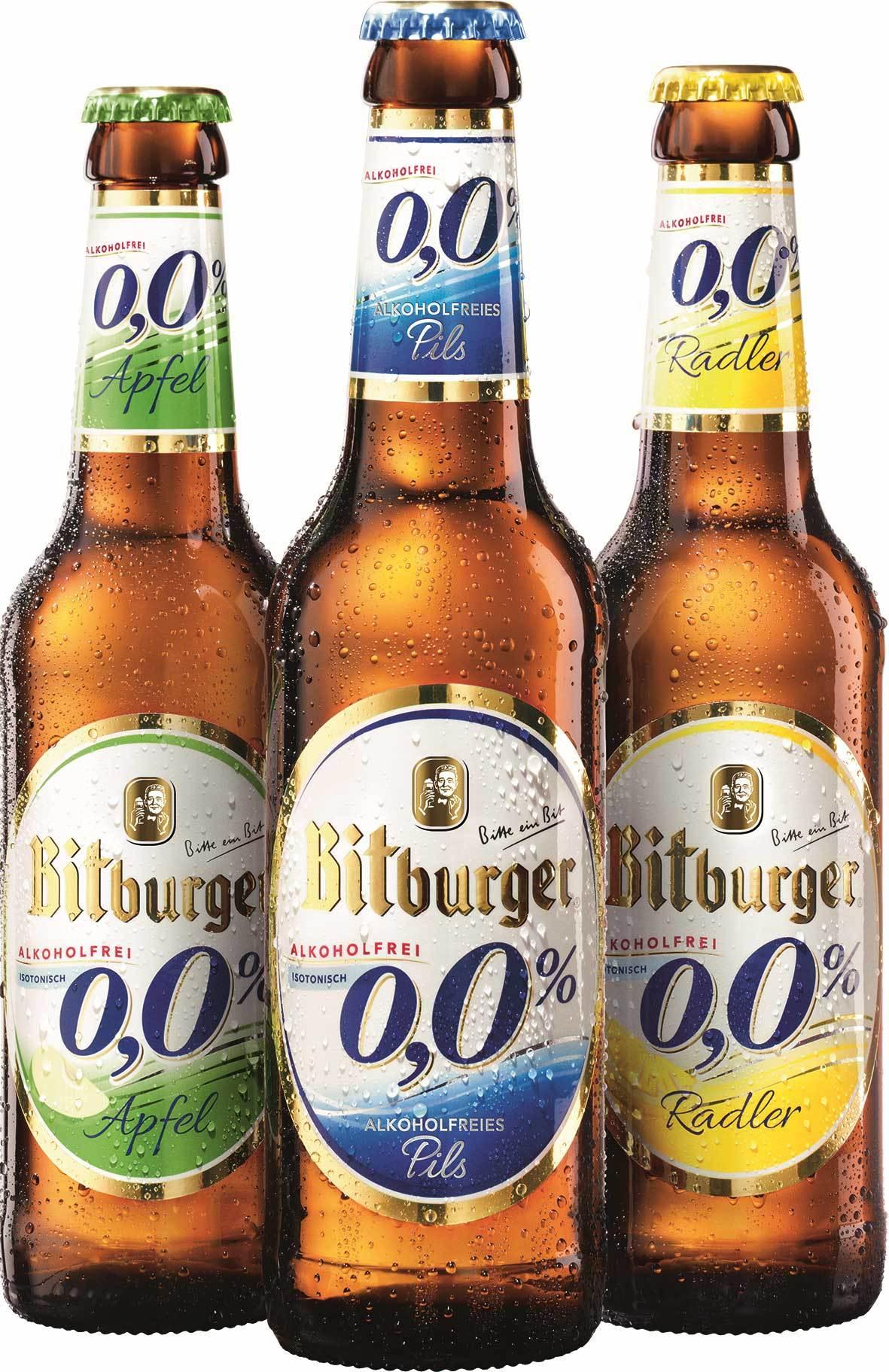 [Getränke City XXL] ab 5€ Einkauf - 2 Flaschen Bitburger 0,0% Gratis (Offline   Lokal München)