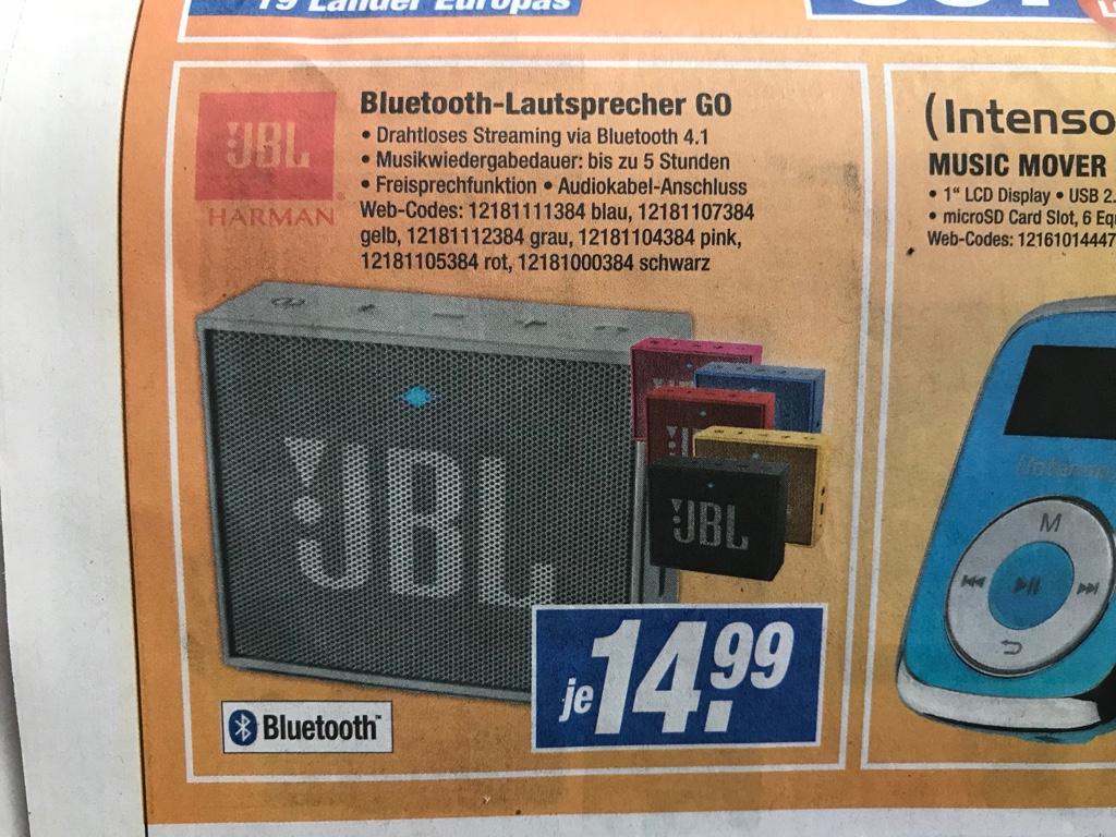 (Lokal) Expert Bad Oldesloe; Bad Segeberg; Eutin; Schleswig | JBL Go Bluetooth Lautsprecher 14,99€