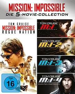 Mission Impossible 1-5 (Box) [Blu-ray] für 15€ [Mediamarkt]