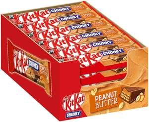 [Amazon Prime] Nestlé KitKat Chunky Peanut Butter Display Box (24x 42g)