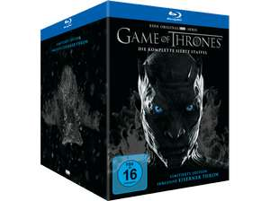 Game of Thrones: Die komplette siebte Staffel Limited Edition inkl. Mini Thron Figur (Blu-ray + 2 Bonus Blu-ray + UV Copy) für 39€ versandkostenfrei (Media Markt)
