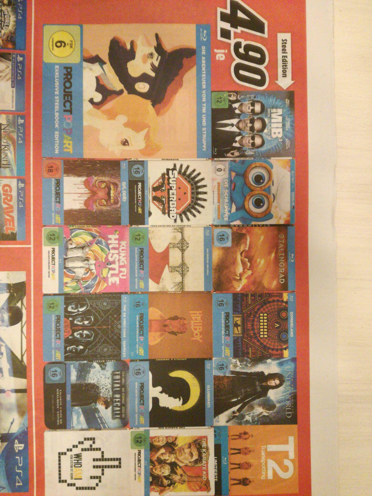 Media Markt Koblenz [lokal] diverse Steelboxen Blu-ray €4,90