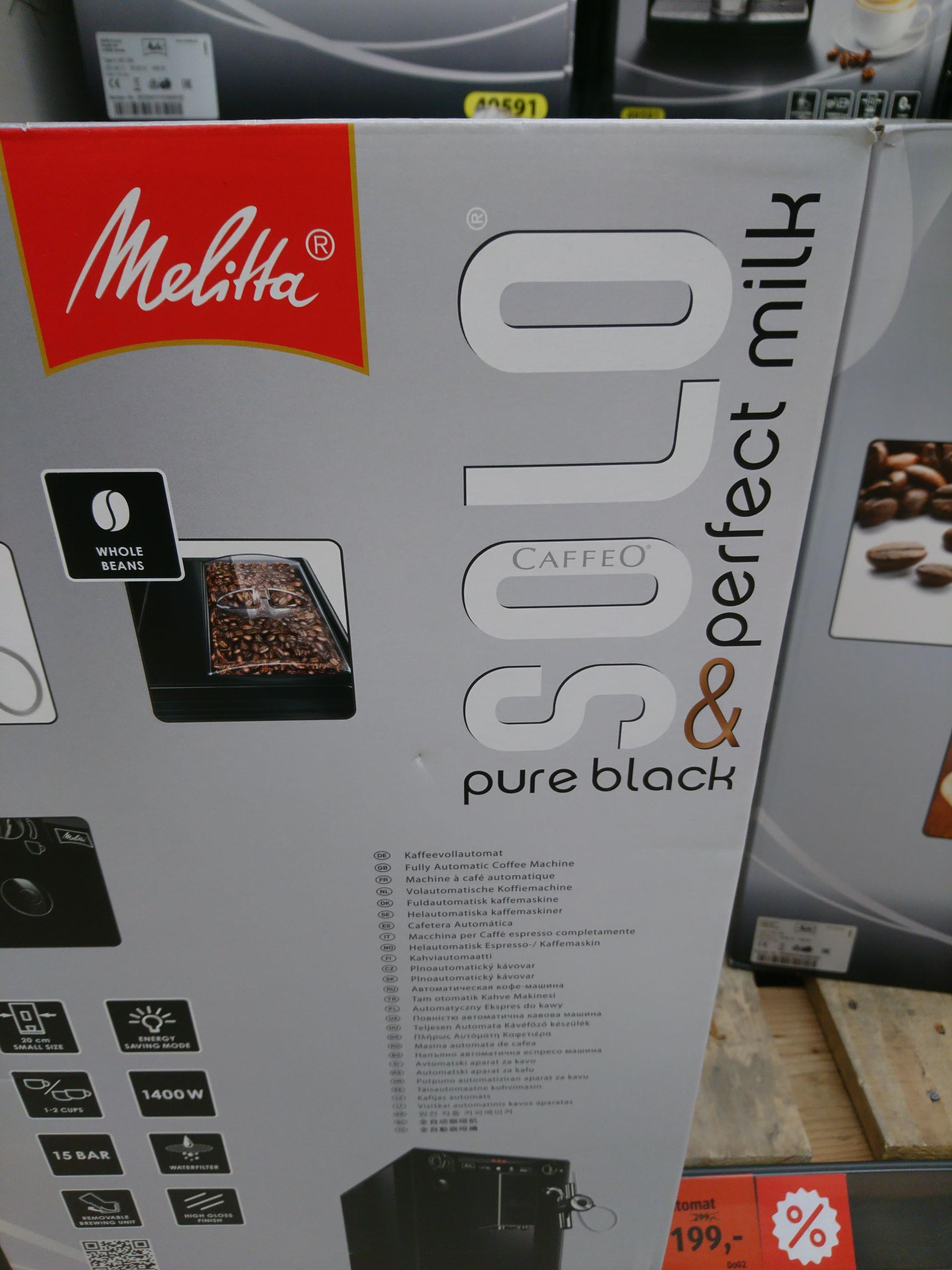 Lokal Duisburg Aldi: Melitta Kaffeevollautomat Caffeo Solo Perfect Milk