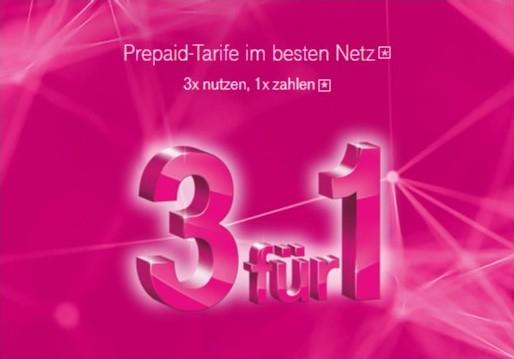 1,5GB LTE ab eff. 4,98€ im Monat +Freiminuten/Flat - Telekom Prepaid MagentaMobil Start L/XL - Tarifwechsel/Neuaktivierung - 3 für 1