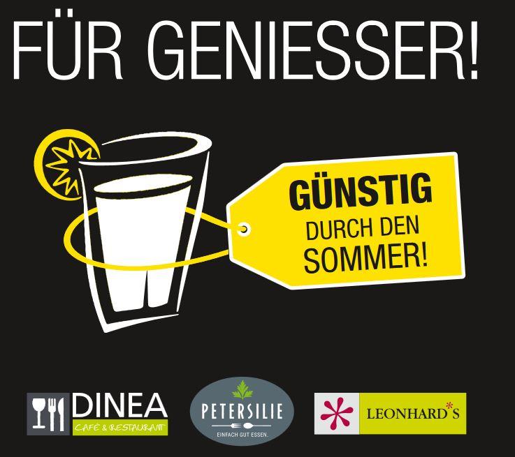 div. Coupons für Gastronomie DINEA, LEONHARD'S & PETERSILIE Filialen (Bundesweit)