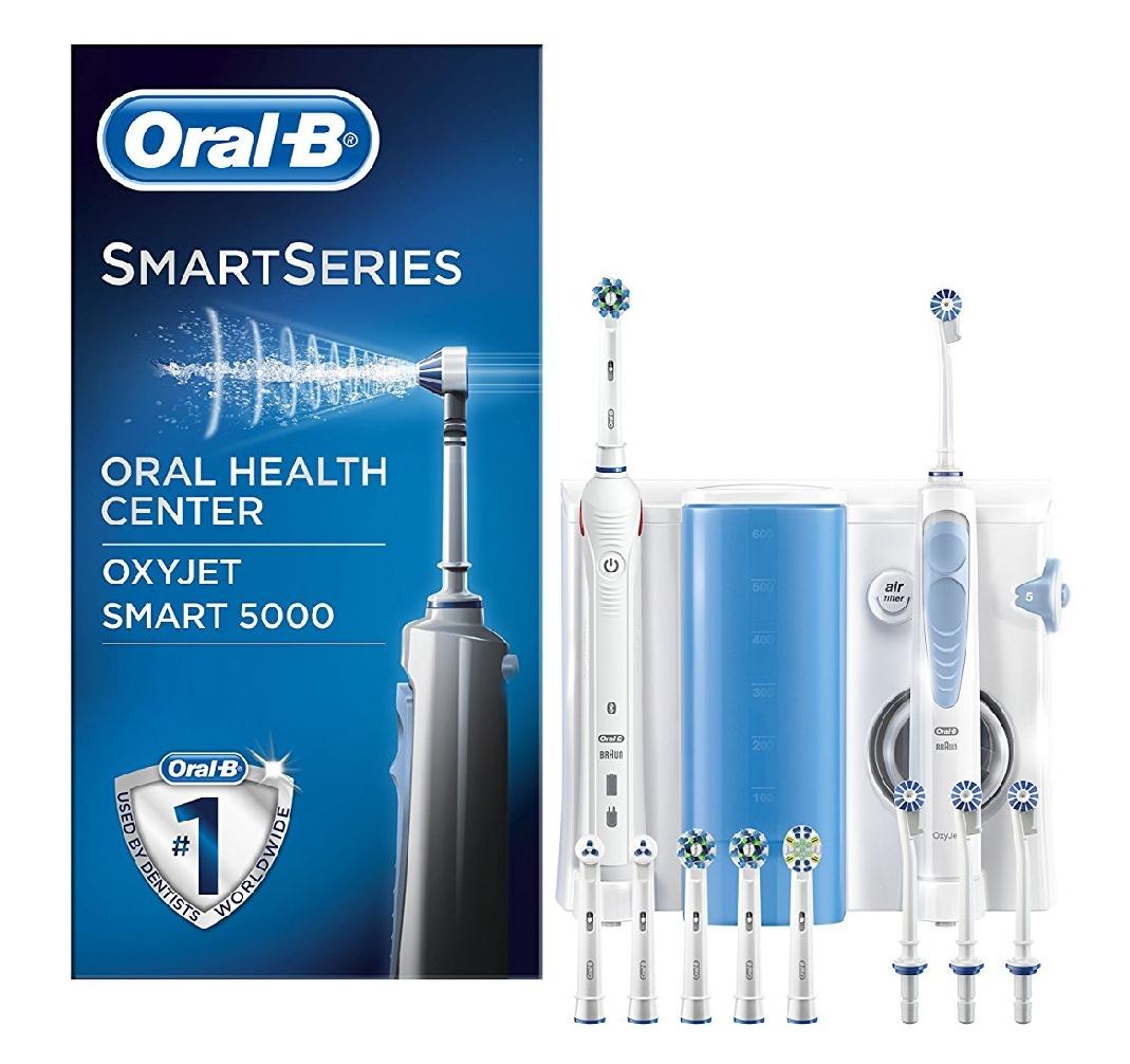 Oral-B Mundpflege Center Smart 5000 inkl. OxyJet Munddusche, sowie diversen Aufsätzen