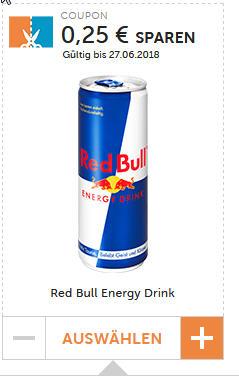 Couponplatz - Red Bull Gutschein - 0,25 Euro