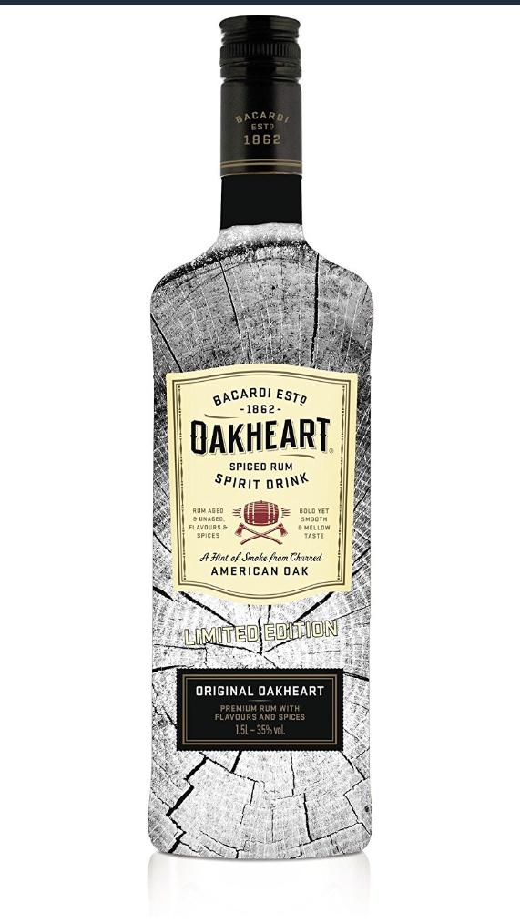 Bacardi Oakheart Spiced Rumspirituose (1 x 1.5 l)