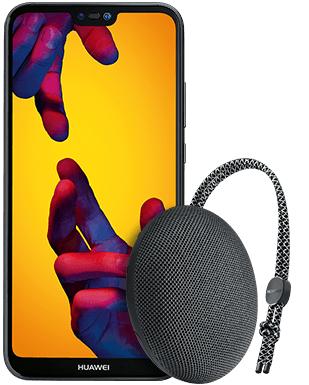 Huawei P20 lite + Lautsprecher + 10GB Allnet Flat Vertrag O2 Free M (junge Leute)