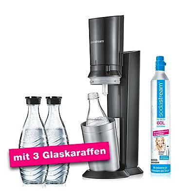 SodaStream Crystal 2.0, titan mit 3 Glaskaraffen und weitere Varianten *WIEDER VERFÜGBAR*