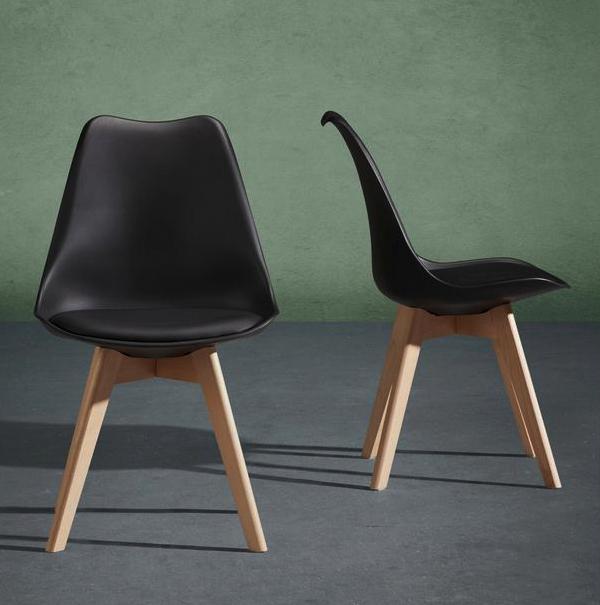 """Stuhl """"Rocky"""" in Schwarz und Weiß (3 für 33,52€ mit 25%-Gutschein) bei Mömax"""