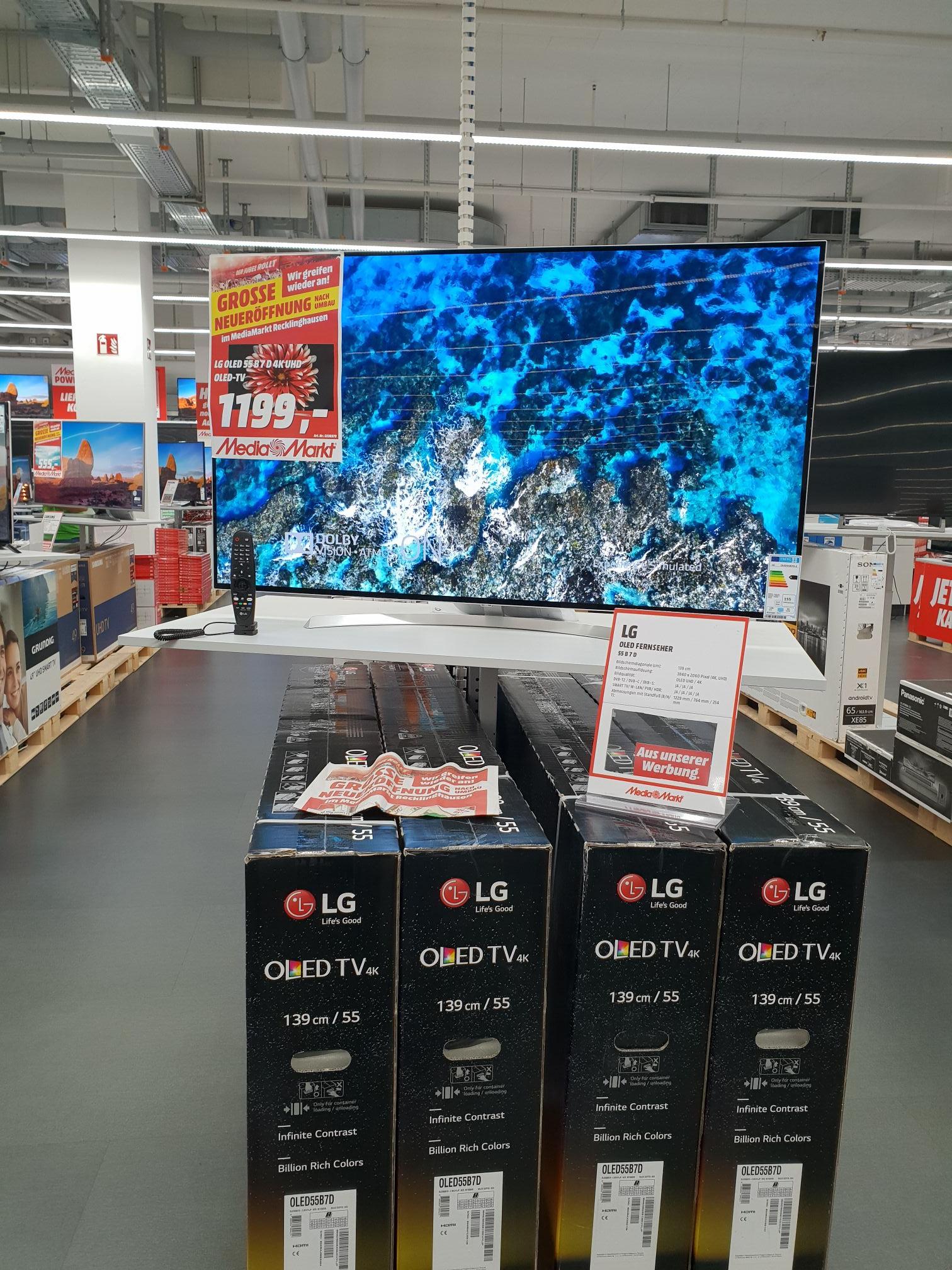 LG OLED 55B7D Media Markt Recklinghausen Lokal Große Neueröffnung