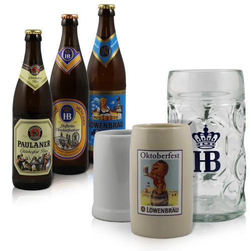 12 Flaschen Münchner Oktoberfest Bier + einen Bierkrug für 14,99€