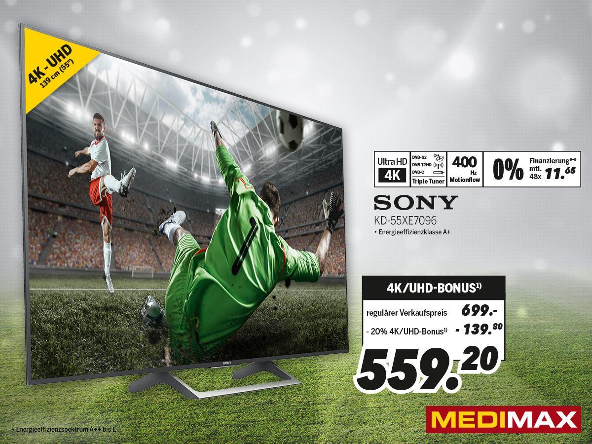 20% auf UHD / 4K TVs - MediMax Heinsberg - Mega heißer Deal