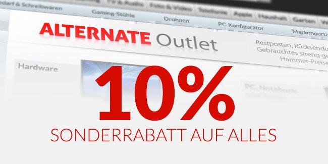 [ALTERNATE] 10% Extrarabatt auf Outlet-Artikel
